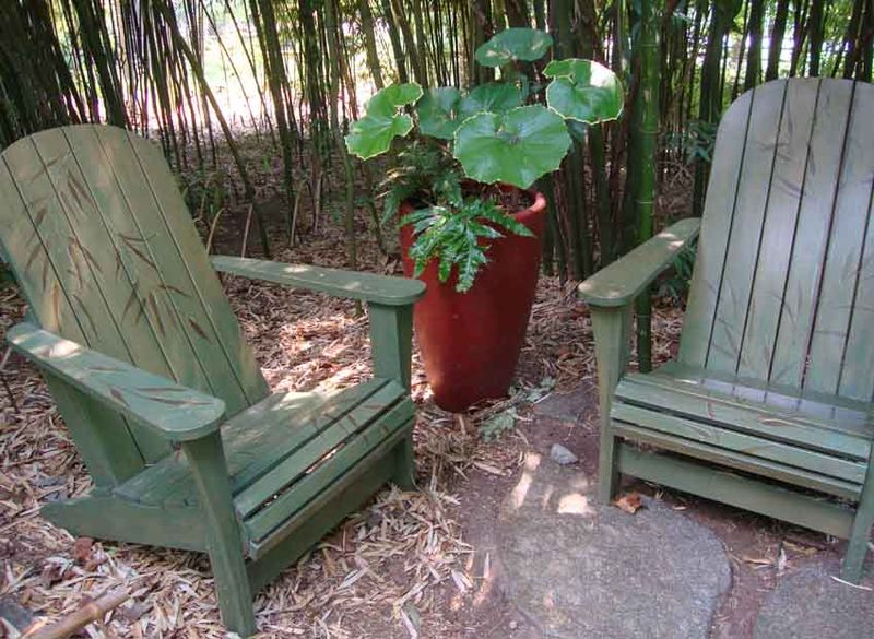 7 stenciled chairs chanticleer052