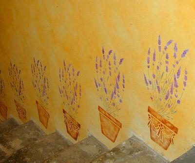 Lavender and pot stencils LR 10