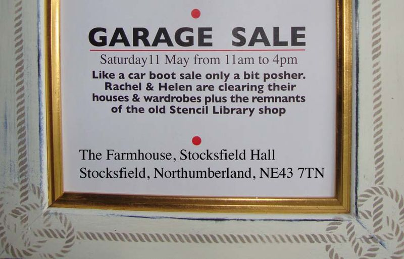 Garage sale stocksfield