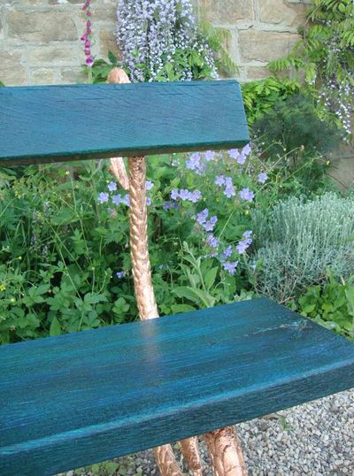 Glazed garden bench999