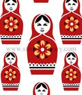 Russian Dolls Repeat stencil
