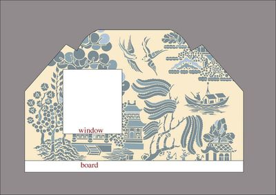 Willow pattern stencil walltxtA