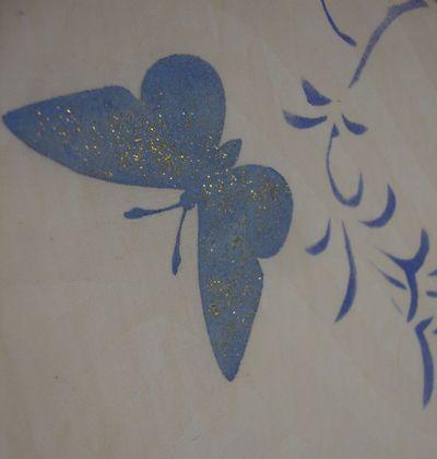Glitter butterfly 966