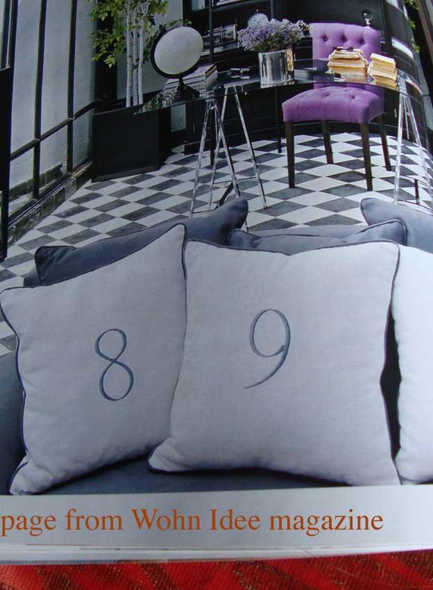 Wohn idee numbers on cushion 65