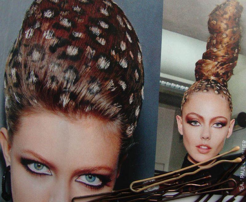 Leopard hair do JPGaultVoge 590
