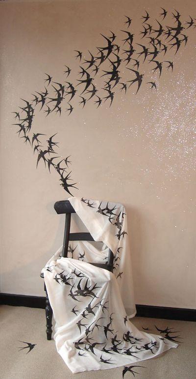 Free form swallow stencil 130