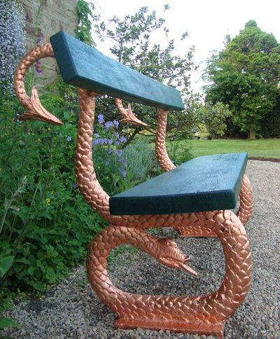 Copper leaf serpent 998
