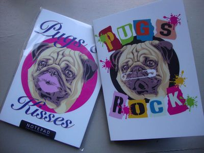 Pug stencil notebooks 25