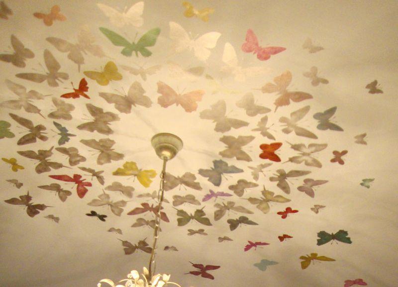 Moths around a flame large stencil lr