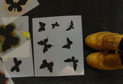 Butterfly moth stencil offer23