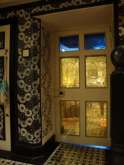 Stencilled glass door 06