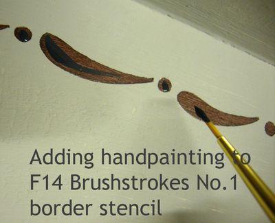Stencil brushstroke 17