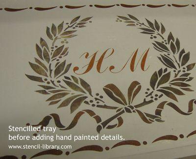 Stencil on tray bef txt 07