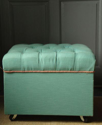 Teal footstool 37