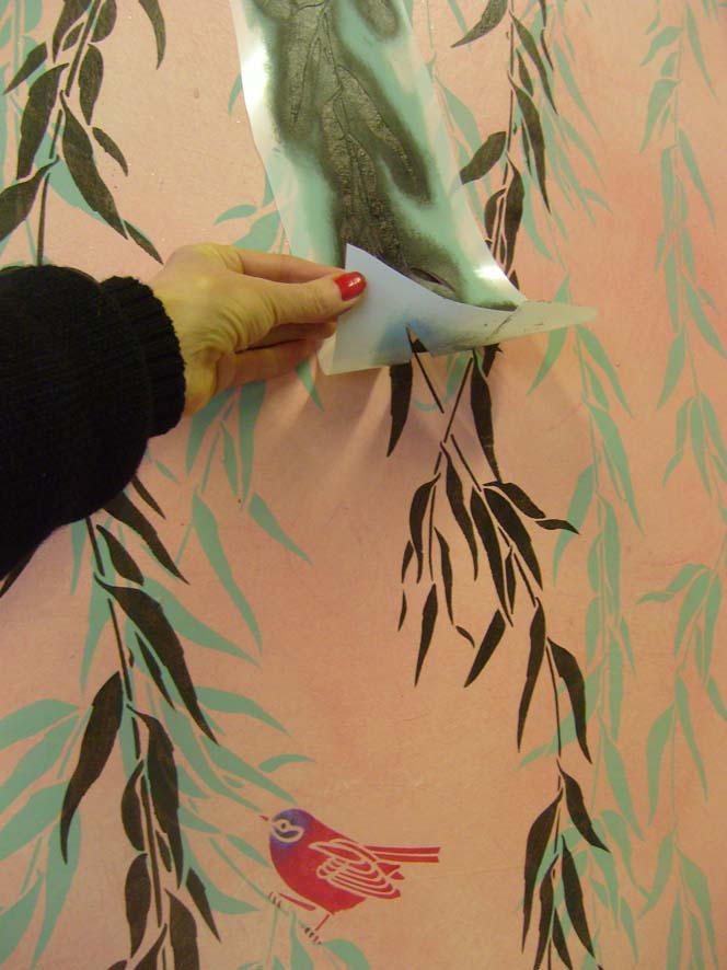 Apply JA73 willow stencil