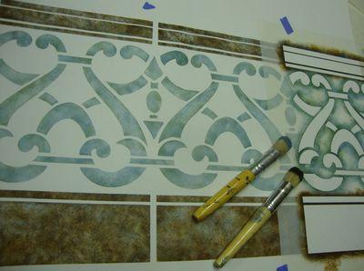 AR pierced wall stencil 80