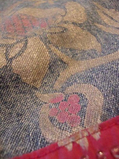 Stencilled brocade jeans14