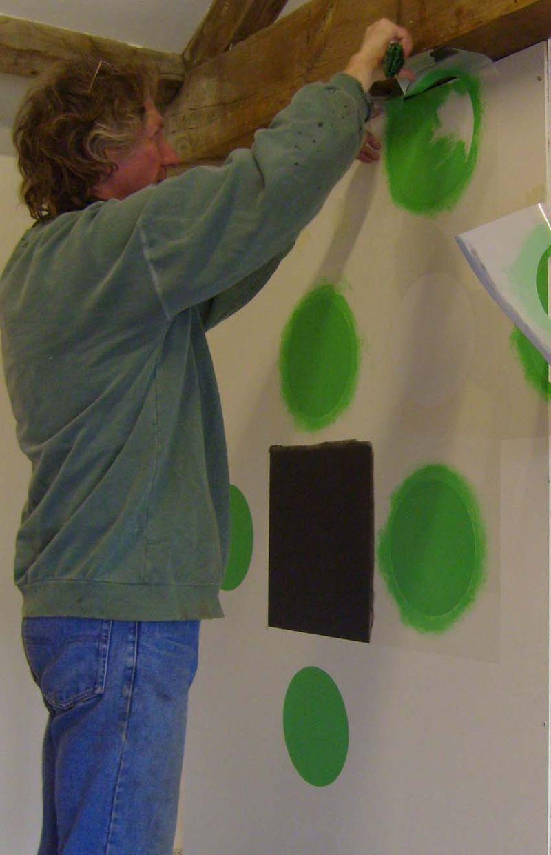 Applying big bold stencil