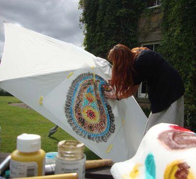 Stencil paisley parasol 401