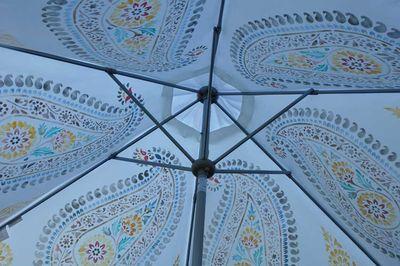 Under paisley parasol