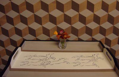Horse stencil cube stencil 411