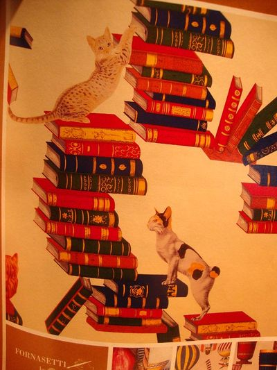 Fornassetti cat and book 611