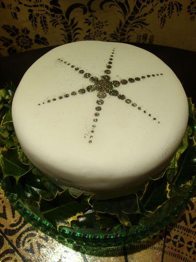 Julies stencilled cake 15