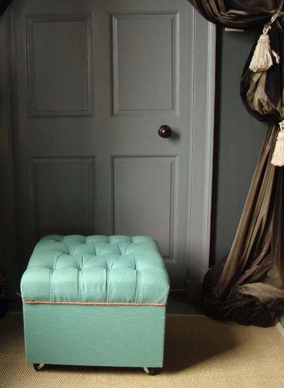 Teal footstool 35