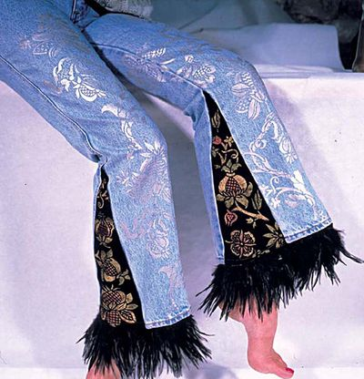 Stencil your jeans 2