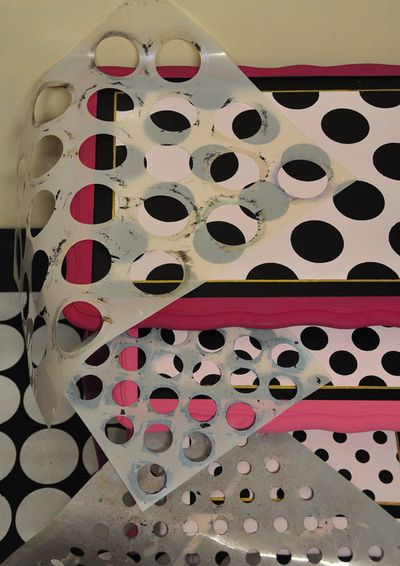 Dot stencils for furniture20