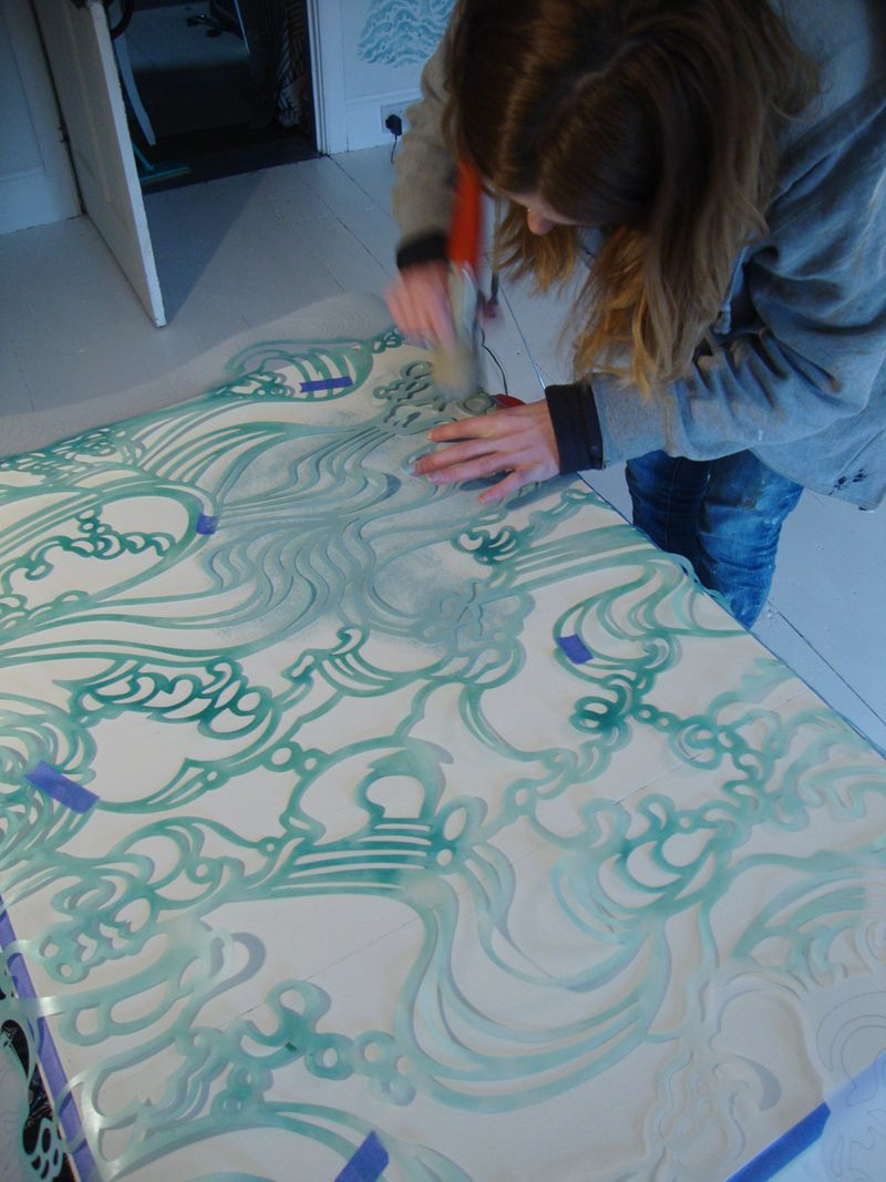 Wave table stencilling4617