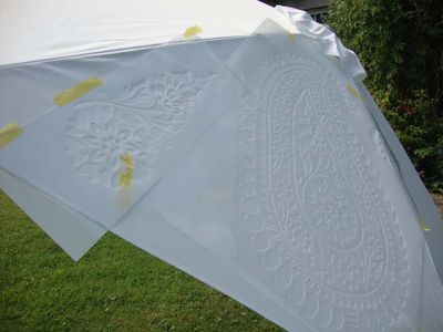 Postioning paisley stencil 382