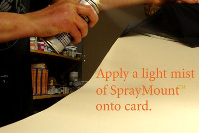1 applying spraymount 292