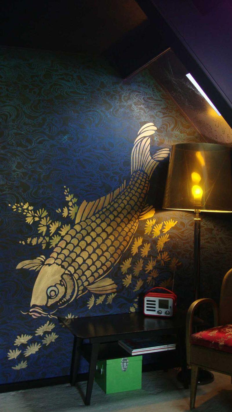 Carp and wave stencils 63