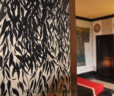 Stencilled willow screen 39