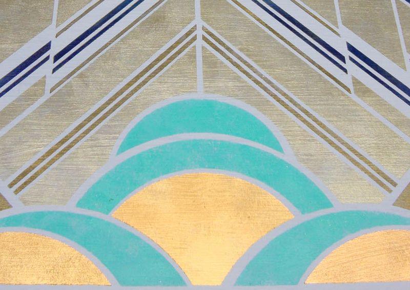 Art deco stencil border 440