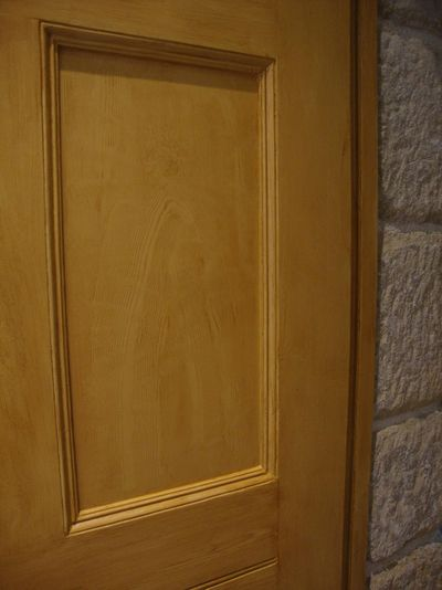 Woodgrained door