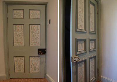 Stencilled doors