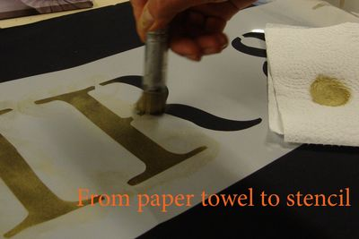 4 paper towel and stencil 302