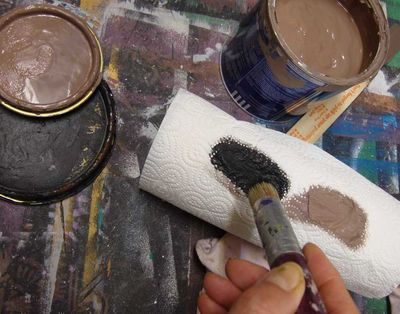 Removing excess paint