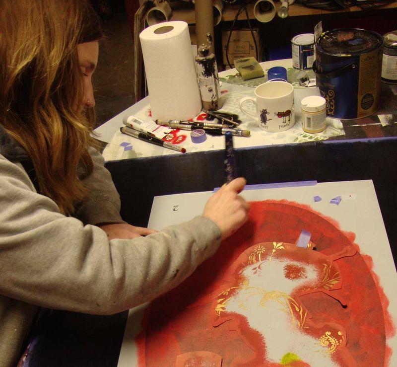 Making geisha panel 24