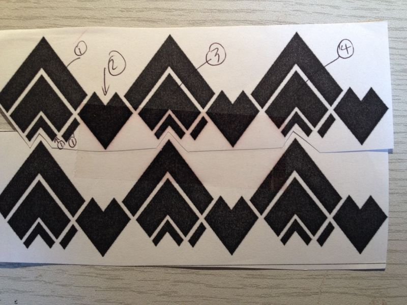 Art deco chevron stencil