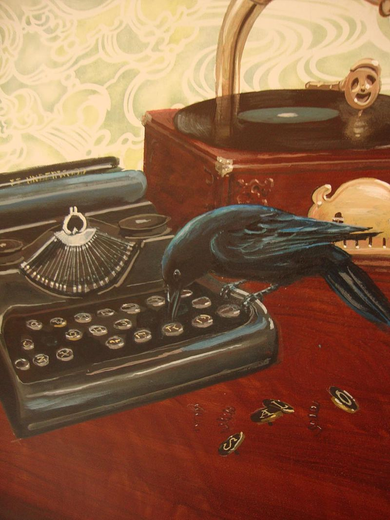 Salon mural typewriter