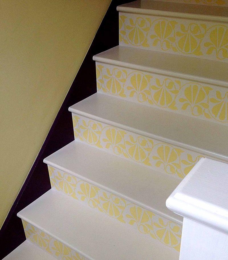 Stencilled stairs