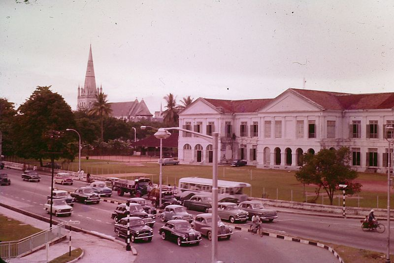Singapore traffic 1960