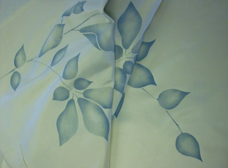 Leaf stencil fabric