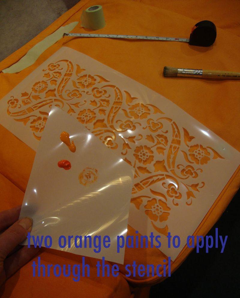 Orange paint stencil