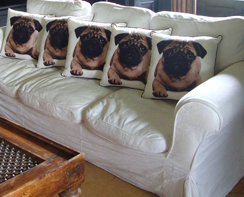 Tesco pug cushions 482