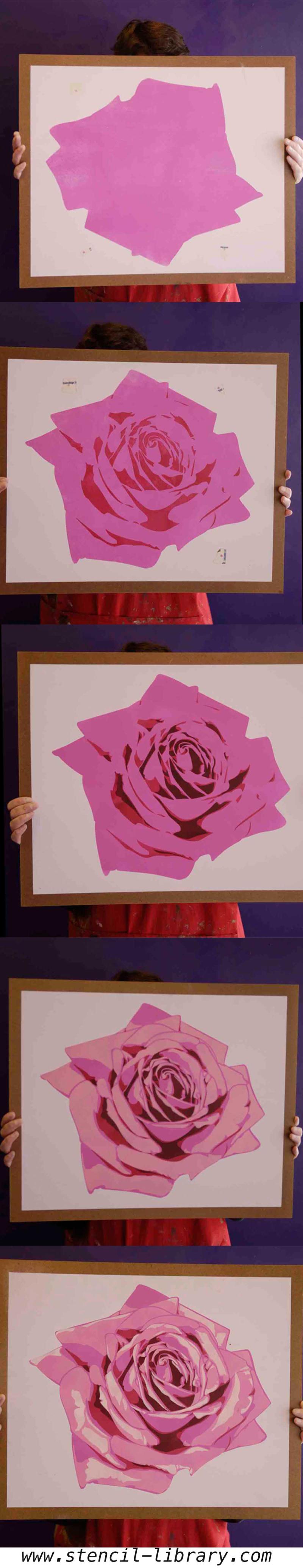 Stencil library rose stencil