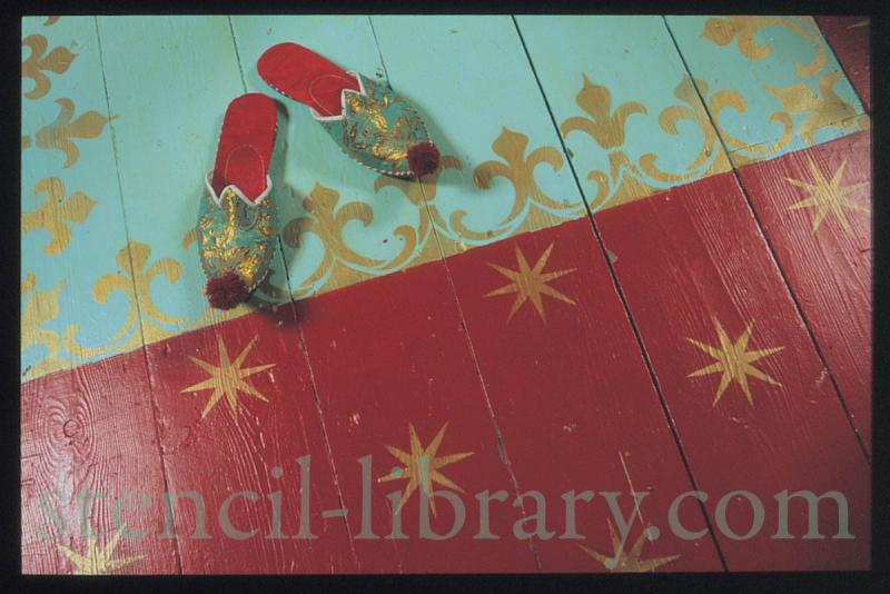 Star stencil floor